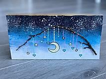 Dekorácie - Mesacna zimna obloha - 13870493_