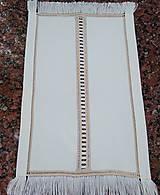 """Úžitkový textil - Ručne vyšívaná dečka """"Ažúr"""" A12 obdĺžnik 50x30cm - 13870480_"""