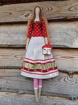 Dekorácie - Textilný vianočný anjel, 55 cm - 13870354_