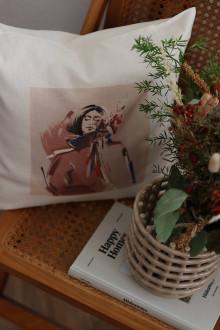 """Úžitkový textil - """"Moje hygge"""" obliečka s autorskou ilustráciou - 13871881_"""