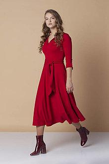 Šaty - Červené midi šaty ZITA - 13874869_