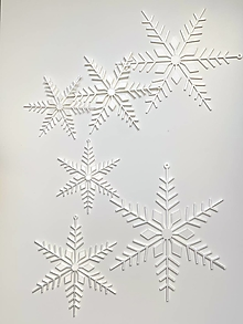 Dekorácie - Vianočné vločky biele - 13872116_