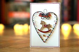 Papiernictvo - Nostalgické Vianoce - pohľadica - 13873294_