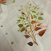 """Oblečenie - """"FLORAL FOLK""""  pánska  košeľa so stojačikom  (Dlhý rukáv biela + ručná autorská maľba ruží) - 13875612_"""