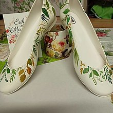 """Ponožky, pančuchy, obuv - Ručne maľované balerínky """" Lúčne """" - 13875746_"""