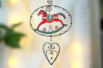 Dekorácie - vianočný koník - 13875545_