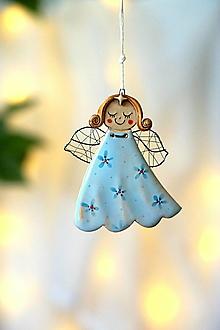 Detské doplnky - anjelik nezábudkový *11 cm - 13875595_