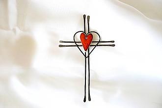 Dekorácie - Nástenný tepaný krížik * 17,5 - 13878244_