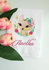 Úžitkový textil - Líška v kvetoch - 13883276_