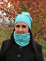 Čiapky, čelenky, klobúky - Dizajnová úpletová čiapka botanica zelená - 13883278_