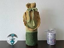 Iné tašky - Obal na fľašu - zelený - 13880290_