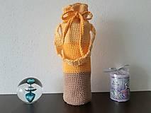 Iné tašky - Obal na fľašu - žltý - 13880296_