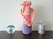 Iné tašky - Obal na fľašu - ružový - 13880303_