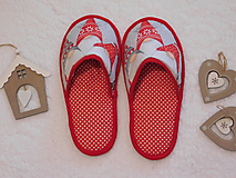 Ponožky, pančuchy, obuv - Papuče vianočné - 13883762_