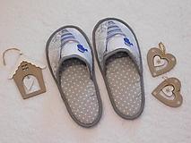 Ponožky, pančuchy, obuv - Papuče vianočné - 13883787_
