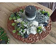 Dekorácie - Vianočné ikebany a aranžmá (Béžový) - 13883545_