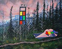 Obrazy - Snoloď, olej na plátne. - 13883554_
