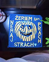"""Úžitkový textil - Halloweenska handra """"Nemaj strach, žeriem len prach."""" - 13883750_"""